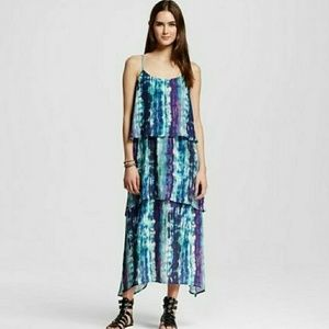 NWT Mossimo Tiered Layered Tie Dye Maxi Dress